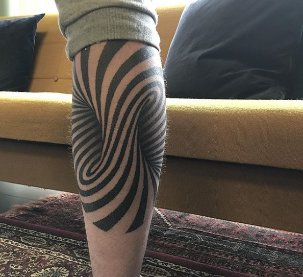 tatouage illusion optique JustinMorris