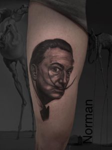 Norman Shovel - Tatouage Portrait