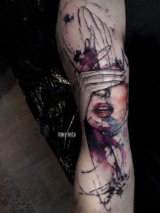 Dime Reck - Tatouage Abstrait