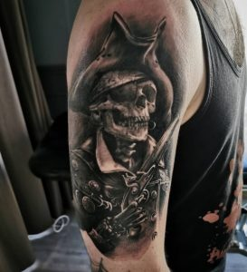 Kalguar - Tatouage Skull