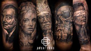 Boun Cang - Tatouage Réaliste