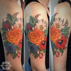 Punky - Tatouage Floral